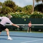 Tennispielen auf Sanibel, Florida